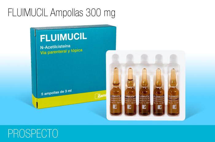 Fluimucil Ampollas 300 mg