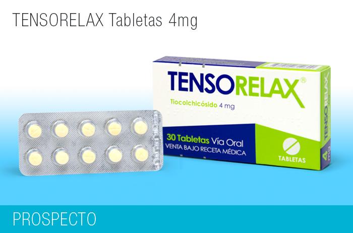Tensorelax Tabletas 4 mg